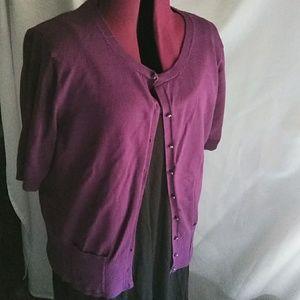 Purple cardigan XL
